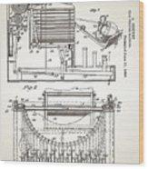 Grundy Typewriter Patent 1889 Wood Print