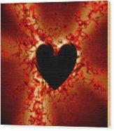 Grunge Heart Wood Print