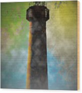 Grunge Lighthouse Wood Print