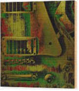 Grunge Metal Wood Print