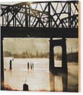 Grunge River Wood Print