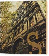 Grungy Melbourne Australia Alphabet Series Letter S Collins Stre Wood Print