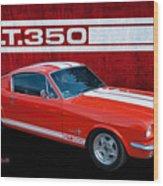 Red Gt 350 Mustang Wood Print