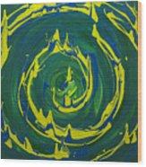 Guacamole Swirl Wood Print