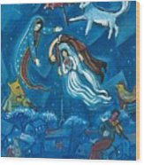 Guadalupe Visits Chagall Wood Print