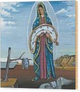 Guadalupe Visits Dali Wood Print