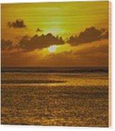 Guam Sunset Wood Print