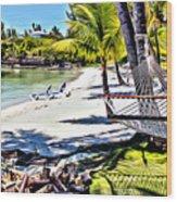 Guana Hammock Wood Print