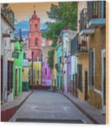 Guanajuato Backstreet Wood Print