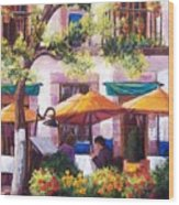 Guanajuato Cafe Wood Print