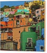 Guanajuato Hillside 1 Wood Print