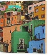 Guanajuato Hillside 2 Wood Print