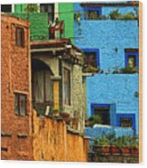 Guanajuato Hillside 3 Wood Print