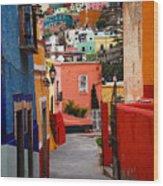 Guanajuato Lane Wood Print