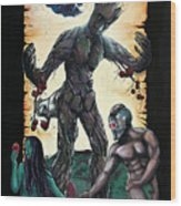 Guarden Of Eden Or Guardians Of Eden Original Available Wood Print