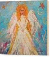 Guardian Angel Wood Print by Barbara Pirkle