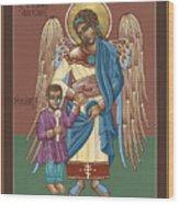Guardian Angel Guarding Little Elijah Gemmell 191 Wood Print