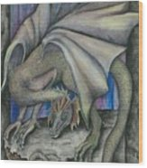Guardian Dragon Wood Print