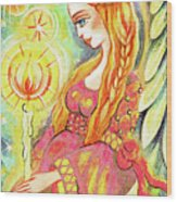 Guardian Mother Of Light Wood Print