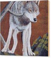 Guardian Of The Den Wood Print