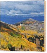 Guardsman Pass Autumn Color Wood Print
