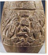 Guatemala: Mayan Vase Wood Print