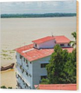 Guayaquil River View Wood Print