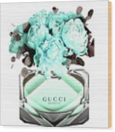 Gucci Blue Perfume Wood Print
