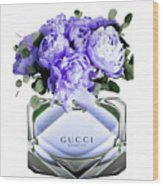 Gucci Perfume With Flower Wood Print