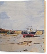 Guernsey Boats Wood Print