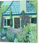 Guest Cottage Wood Print