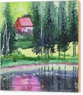 Guest House Wood Print