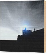 Guiding Light-alcatraz Wood Print by Douglas Barnard