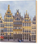Guild Houses At The Grote Markt Wood Print