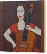 Guilhermina Suggia - Woman Cellist Of Fire Wood Print
