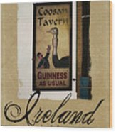 Guinness As Usual Athlone Ireland Wood Print
