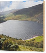 Guinness Lake In Wicklow Mountains  Ireland Wood Print