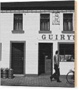 Guirys Irish Pub Foxford County Mayo Ireland Wood Print by Joe Fox