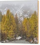 Guisane Valley In Autumn - French Alps Wood Print