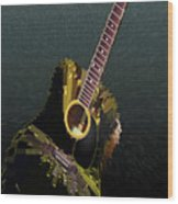 Guitar Abstract Wood Print