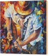 Guitar And Soul Wood Print