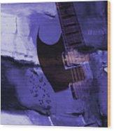 Guitar Art 001a Wood Print