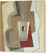 Guitar, By Pablo Picasso, 1919, Kroller-muller Museum, Hoge Velu Wood Print