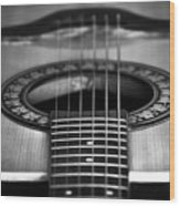 Guitar Close Up Wood Print
