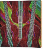 Guitar Fantasy Four Wood Print