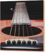 Guitar Orange 19 Wood Print