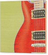 Guitar Pic Wood Print