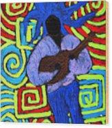 Guitar Solo Wood Print