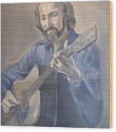 Guitarist  Wood Print