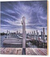 Gulf Coast Blues Wood Print
